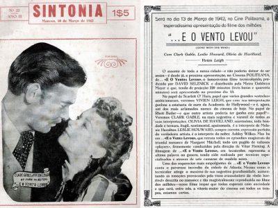 Chamada do filme … E o vento levou, Revista Sintonia