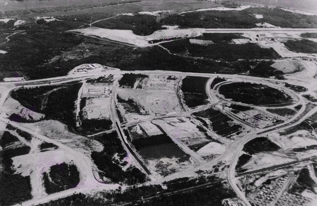 Vista aérea do início do Distrito Industrial