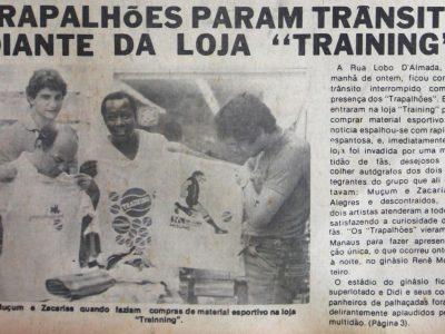 Os Trapalhões param o trânsito em Manaus