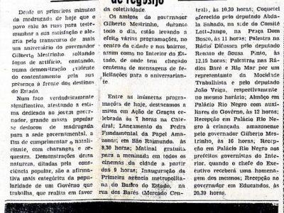 Manifestações populares no Aniversário de Gilberto Mestrinho