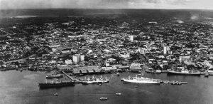 Durango Duarte - Vista aérea da orla da cidade de Manaus