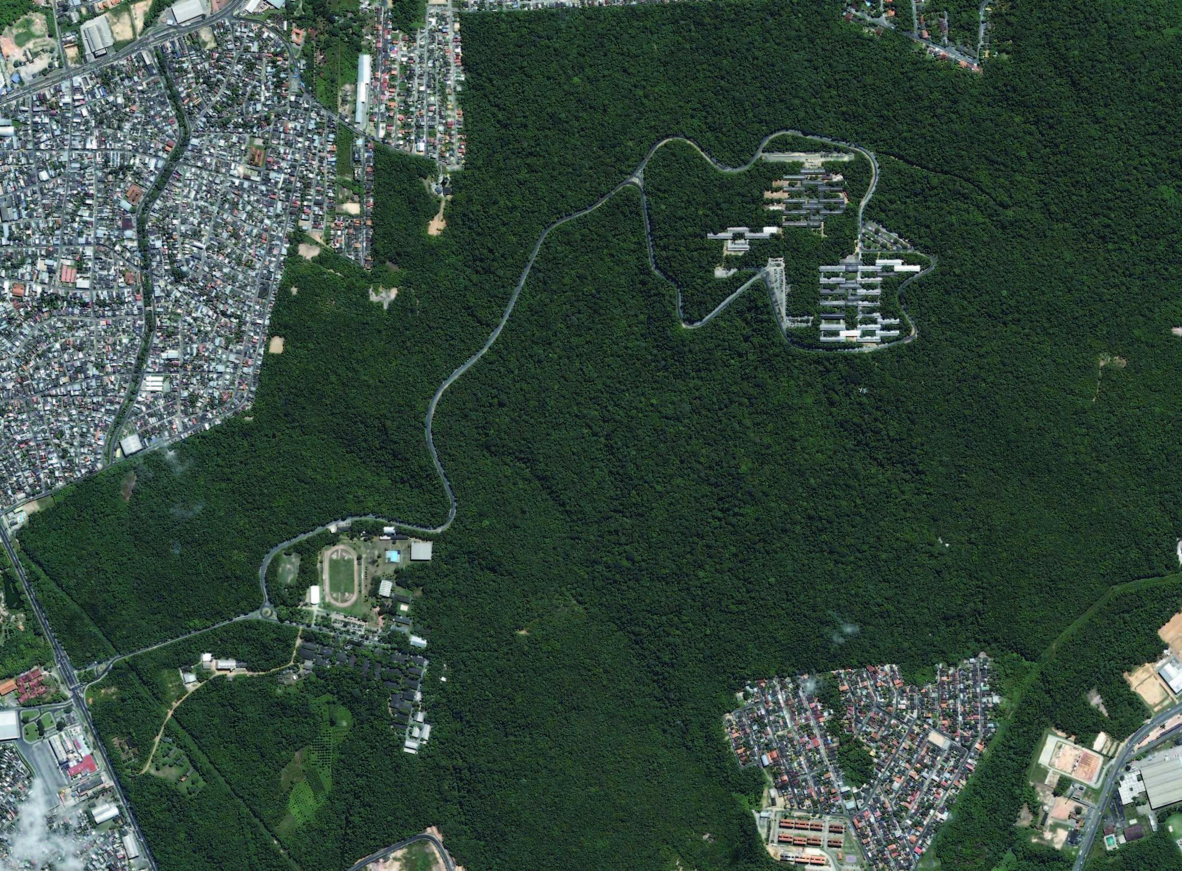 Vista aérea do Campus Universitário da Ufam