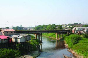 Vista lateral da Ponte Presidente Dutra