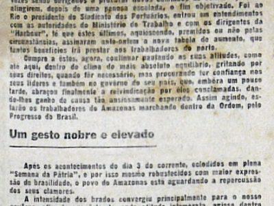 Trabalhadores da Manaus Harbour
