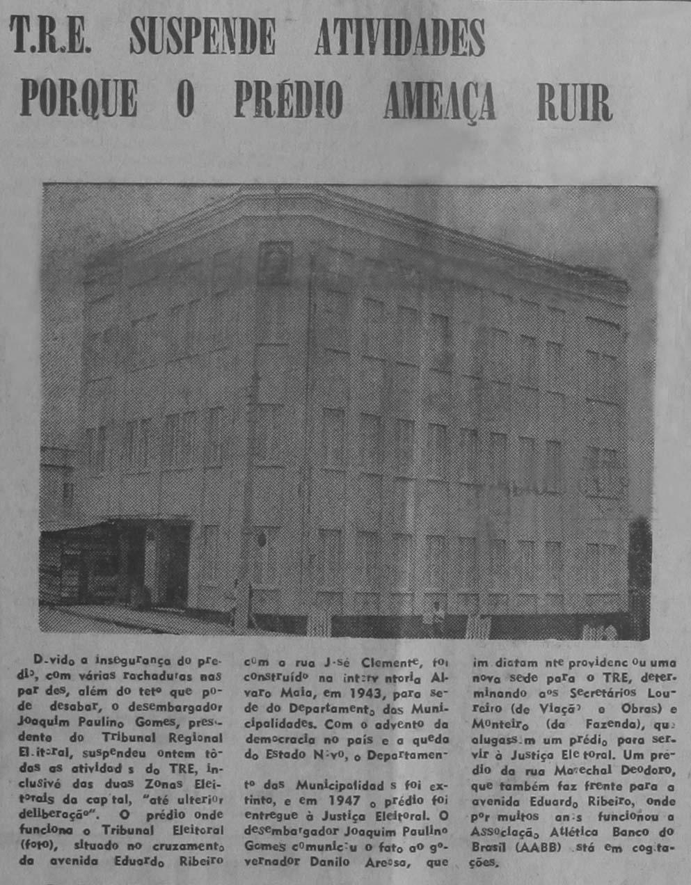 Antigo Prédio do Tribunal Regional Eleitoral