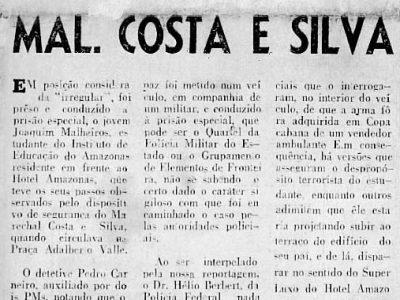 Atentado contra Costa e Silva em Manaus
