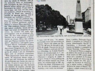 Autoridades esqueceram o aniversário de Manaus