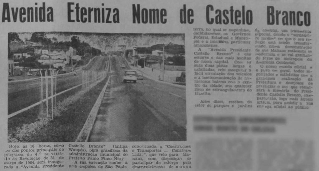 Inauguração da Avenida Castelo Branco
