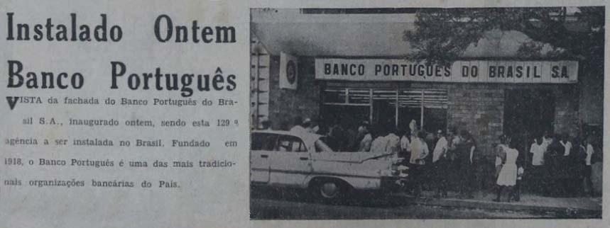 Inauguração do Banco Português em Manaus