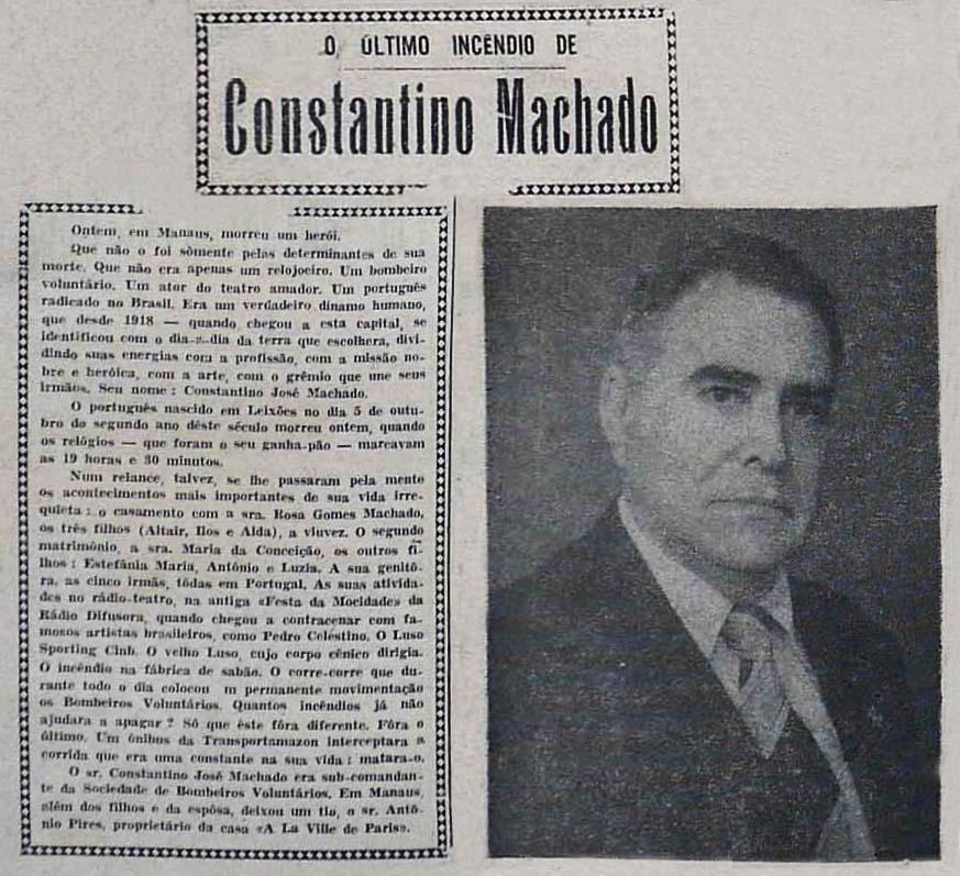 Homenagem a Constantino Machado