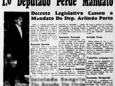 Cassação do Mandato de Arlindo Porto