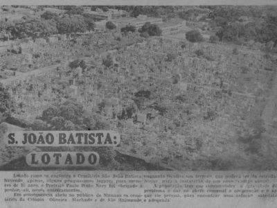 Lotação do Cemitério São João Batista