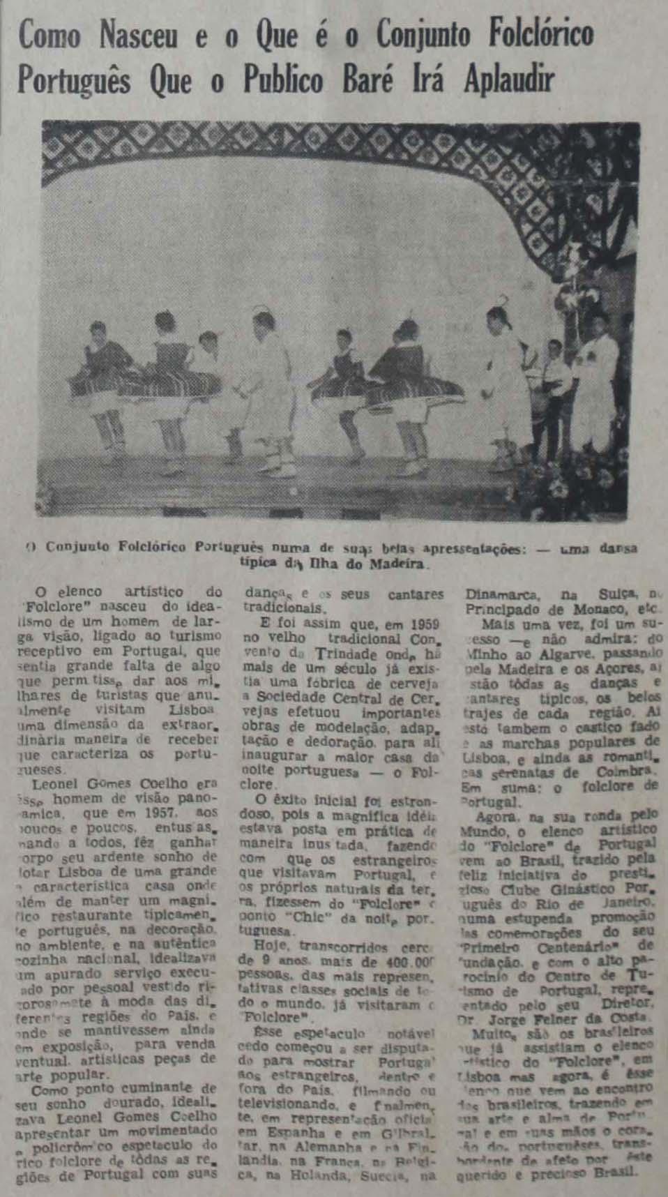 Apresentação do Grupo Folclórico Português