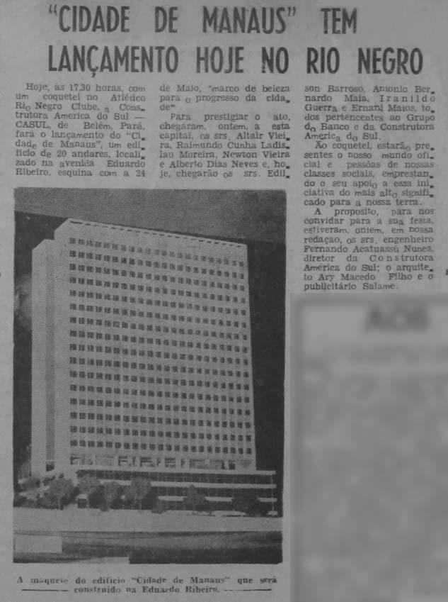 Lançamento do Edifício Cidade de Manaus