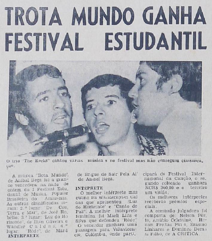 """""""Trota Mundo"""" e o Festival Estudantil do Amazonas"""