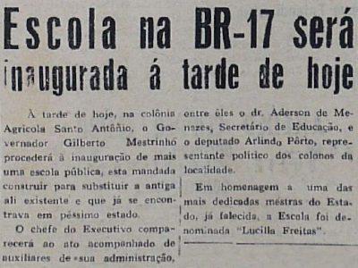 Inauguração de Escola na BR-174