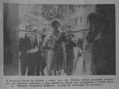 Inauguração do Grupo Escolar Waldemar Pedrosa