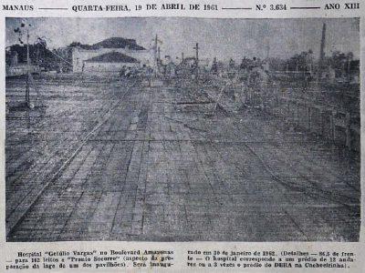 Construção do Hospital Getúlio Vargas