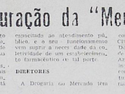 Inauguração da Mercadrogas