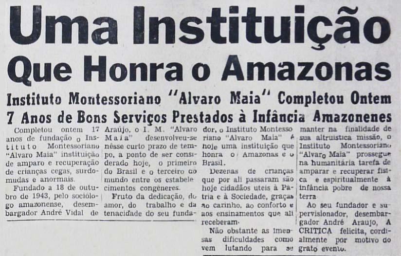 17 anos de Fundação do Instituto Montessoriano
