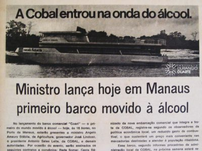 Lançamento do Primeiro Barco à Álcool em Manaus