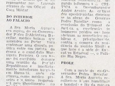 A morte de Maria Augusta Tosta Bacellar