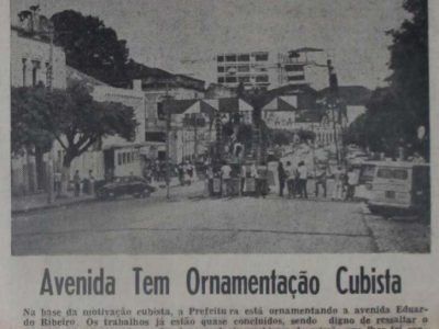 Ornamentação Cubista na Av. Eduardo Ribeiro