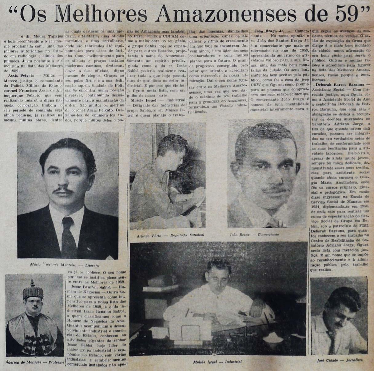Os Melhores Amazonenses de 1959
