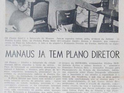Plano Diretor de Manaus em 1968