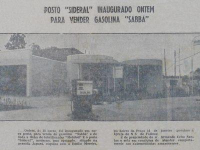 Inauguração do Posto Sideral