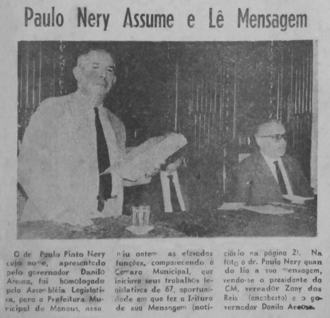 Paulo Pinto Nery o novo Prefeito de Manaus