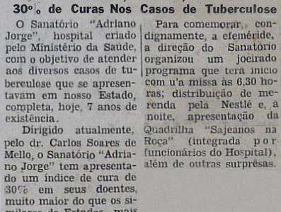 Os 7 Anos do Sanatório Adriano Jorge