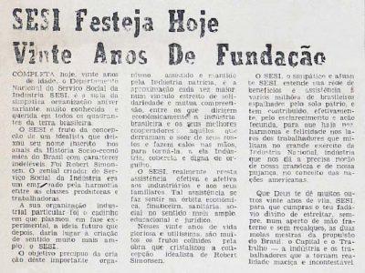 Festa de 20 Anos da Fundação do SESI