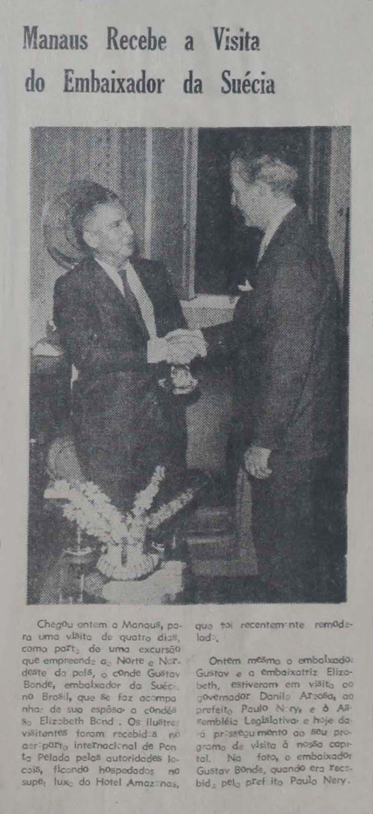 Embaixador da Suécia Visita Manaus