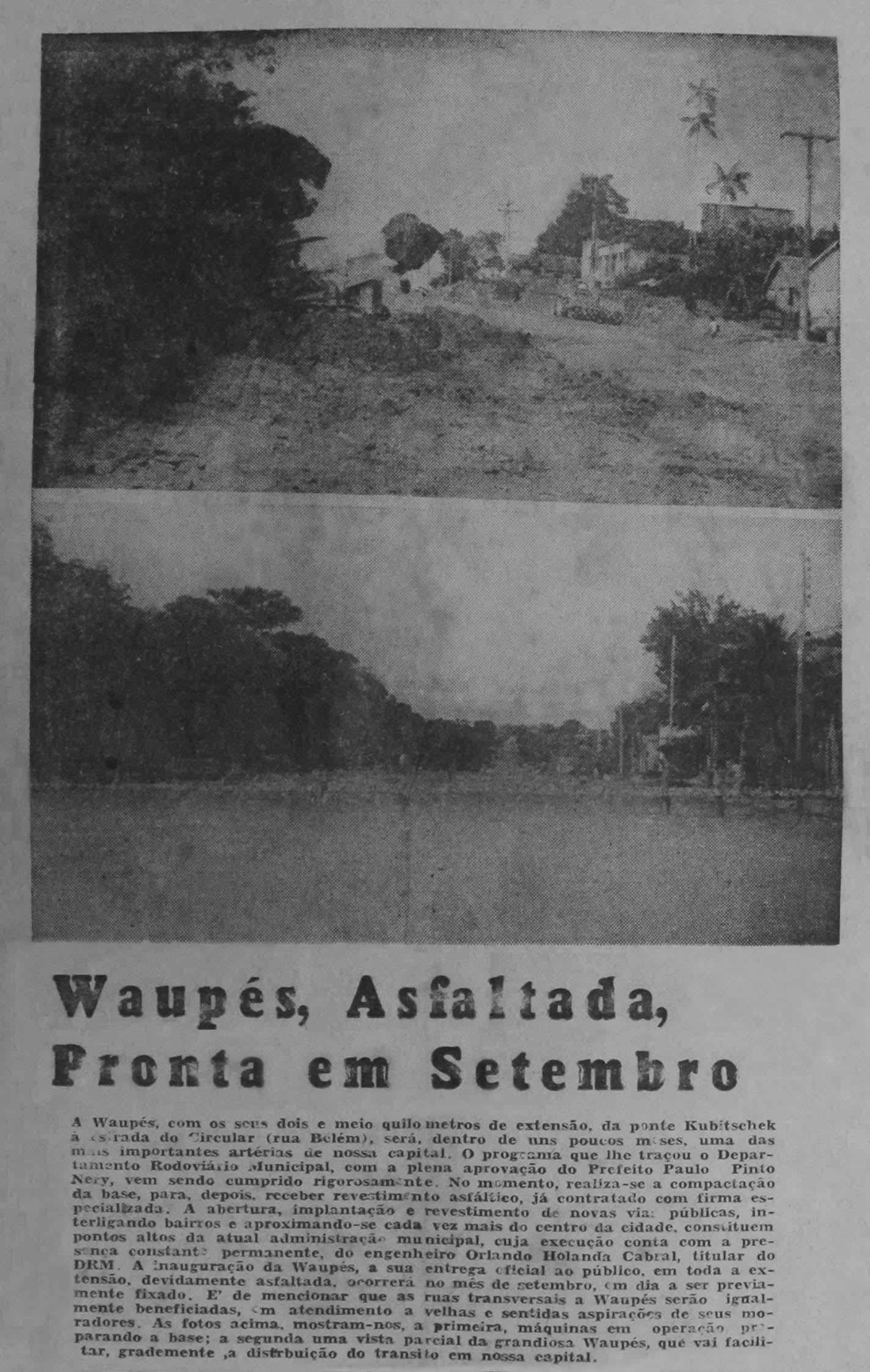 Avenida Waupés Asfaltada